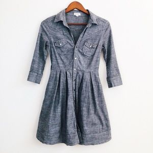Monteau grey fit & flare button down dress - SMALL